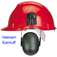 Helmet - ABS Safety + Earmuffs